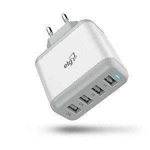Carregador de Celular Universal 4 Saídas USB Bivolt WC48A ELG