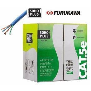Cabo de Rede Trancado Lan Cat6 Azul Claro Certificado Sohoplus Furukawa