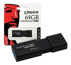 Pen Drive Kingston 64gb DT100G3