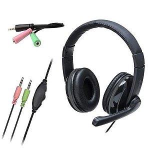 Fone de Ouvido Headset Pro P2 PH316 Multilaser