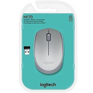 Mouse Sem Fio M170 Prata Logitech
