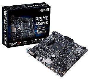 Placa Mãe Desktop Amd Am4 Ddr4 A320MKBR Prime Asus