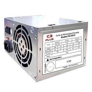 Fonte de Alimentação Atx Desktop 200W PS200V4 C3tech