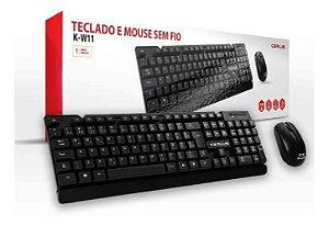 Kit Mouse e Teclado Sem Fio K-W11BK C3tech