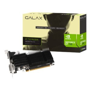 Placa de Video Galax Gefor GT 710 1gb Ddr3 64bits Dvi/Hdmi/ Vga Low Profile 71GGF4DC00WG