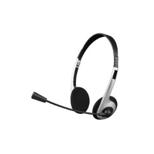 Fone de Ouvido Headset P2 PH-01SI Preto / Prata C3plus