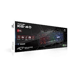 Teclado Usb com Fio Gamer Kg-40Bk Preto / Led C3tech