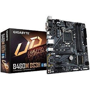 Placa Mãe Desktop Intel 1200 10º geração Ddr4 Nvme B460M Vga/Hdmi/Dvi Gigabyte