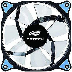 Cooler Gabinete 12cm F7-L130BL Storm Preto Led Azul C3tech