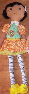 Clari Morena Flor - vestido laranja