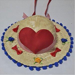 Chapéu M - Festa Junina - Coração