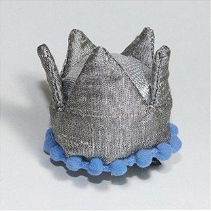 Coroa Prateada Escuro Azul