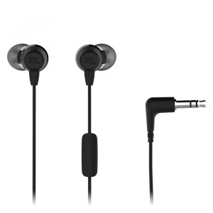 Fone de Ouvido C50HI Preto In ear com fio e microfone - Cabo 1,2m c/ conector P2 - JBL