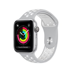Pulseira para Apple Watch Sport 38/40 Silicone Cinza e Branco WBS40GW - Geonav