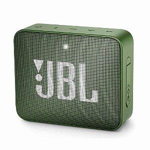 Caixa de Som GO 2 Portátil Bluetooth/P2 Green 3W Rms (Harman do Brasil) - JBL