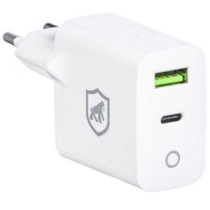 Carregador de Tomada Turbo Power Delivery Type C / Usb QC 4.0 Branco - Gshield