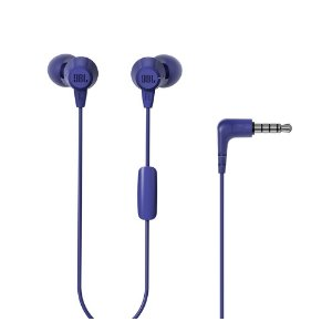 Fone de Ouvido C50HI Azul In ear com fio e microfone - Cabo 1,2m c/ conector P2 - JBL