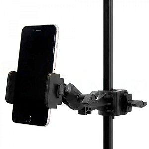 Suporte p/ fixar Celular em Pedestal SC-01 - Saty
