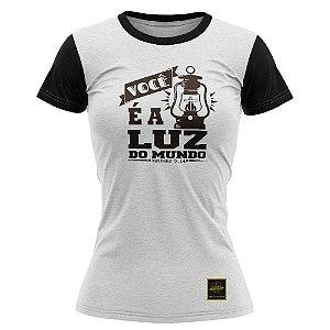 Camiseta feminina Jovem Luz do Mundo branca- 008