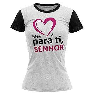 Camiseta feminina Jovem Meu Coração é para ti Senhor - 017