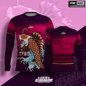 Camiseta de Pesca P02 - Carpa Rosa