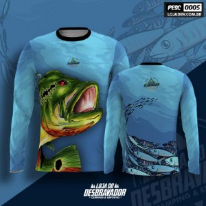 Camiseta de Pesca P05 - Tucunaré Azul