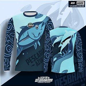 Camiseta de Pesca P09 - Pescaria Azul