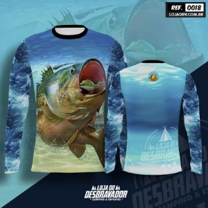 Camiseta de Pesca P18 -Tucunaré e Sapo