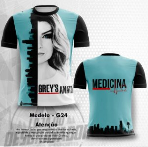 Camiseta Gamer - grey's anatomy 0024
