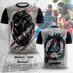 Camiseta Gamer -  The Avengers 0020