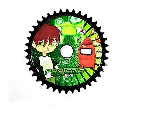 Coroa Engrenagem De Bicicleta 40 Dentes Modelo Ben 10