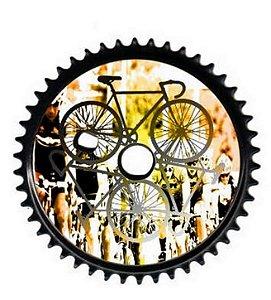 Coroa Engrenagem Cross Bmx 46 Dentes Com Desenho Bicicleta