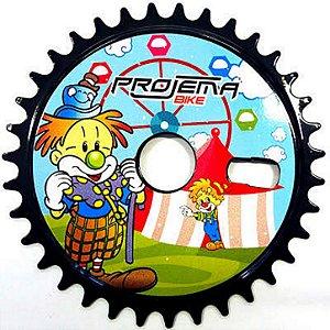 Coroa Engrenagem 36 Dentes Com 05 Furos Para Bike Infantil