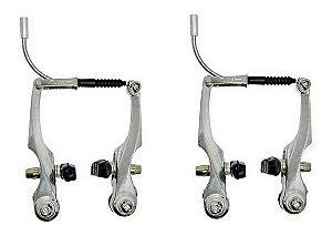 Freio V. Brake Alumínio Dianteiro E Traseiro Para Bicicletas