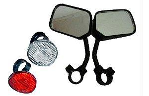 Refletor Olho De Gato Retrovisores Espelho P/bicicletas