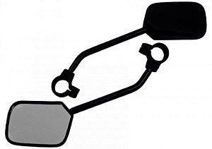 Espelho Retrovisor Com Haste Longa Retangular Par Para Bikes