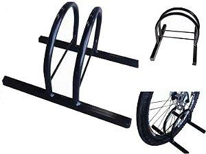 Bicicletario de Chão Estacionamento 1 Vaga Metal Line Preto