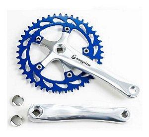 Pedivela Alumínio Azul Cross Bmx P/bicicleta
