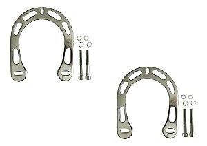 Freio Booster De Alumínio Polido 2 Peças Para Bicicletas