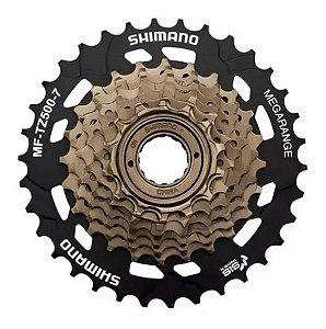 Roda Livre Catraca 7v  Shimano 14/34 Rosca Para Bicicletas