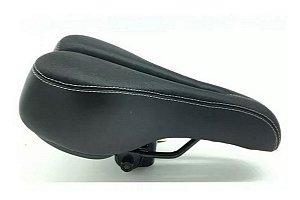 Selim Mtb Banco Ltx Original Macio Confortável Vazado Bike
