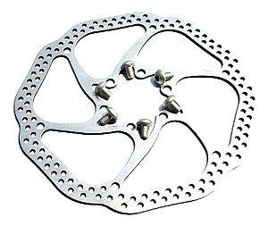 Disco Freio Rotor Absolute 160mm 6 Furos Bike Bicicletas