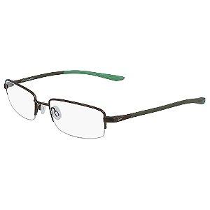 Armação de Óculos Nike 4302 215 - 55 - Marrom - Memory Metal