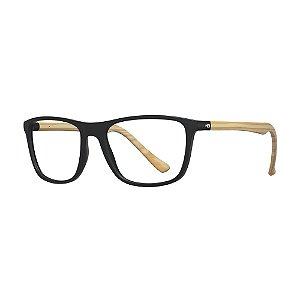Armação de Óculos HB Polytech 0366 Black Wood - 56
