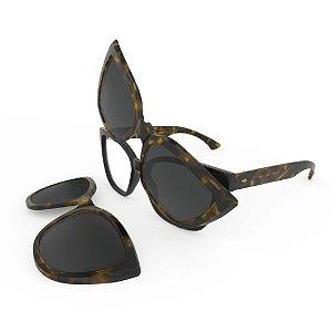 Armação de Óculos HB SWITCH 0403 Turtle - Clip On Polarizado - 51