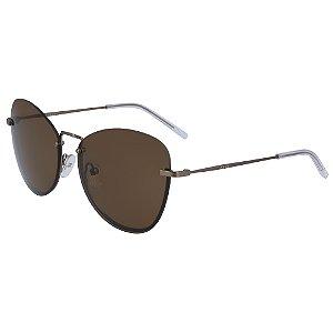 Óculos de Sol DKNY DK100S 210 - 57 - Marrom