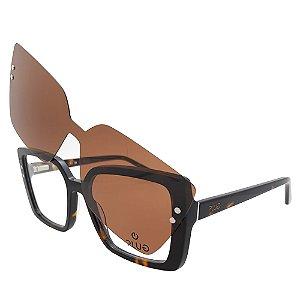 Óculos Clip On Plug 4602 - Lente Solar / Tartaruga - 2 em 1