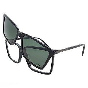 Óculos Clip On Plug 4688 - Lente Noturna / Preto - 3 em 1