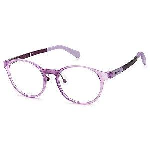 Armação para Óculos Polaroid PLD D822 848 /45 - 9 a 16 anos