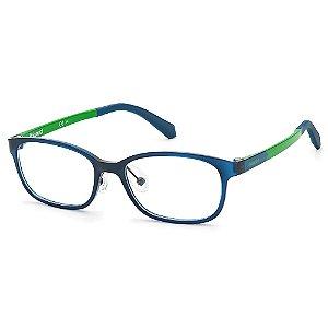 Armação para Óculos Polaroid PLD D821 RNB /48 - 9 a 16 anos